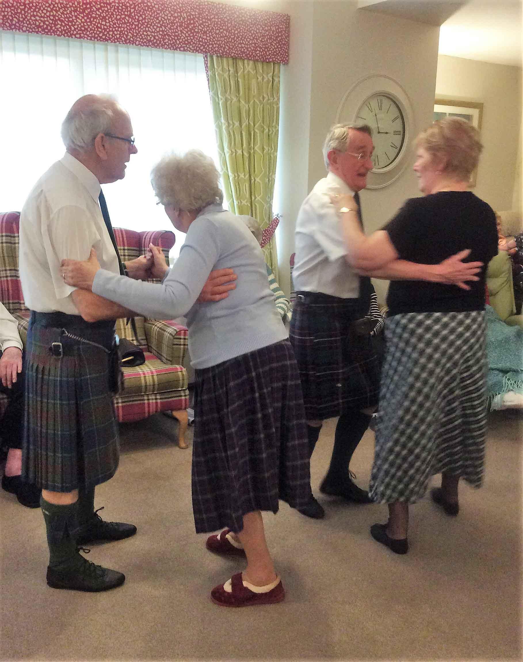 All the fun of the Ceilidh at Buchanan Lodge Care Home