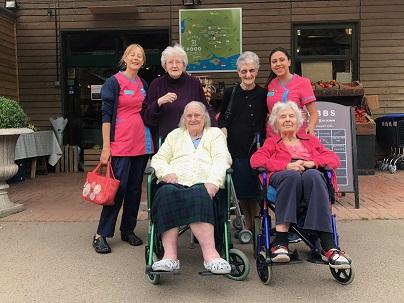Group photo outside the farm shop