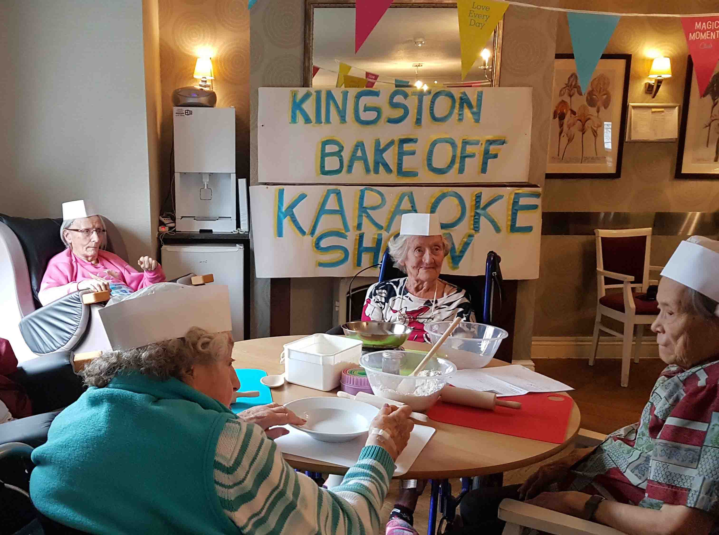 Kingston Care Home's Wow Factor 'bake off' and karaoke