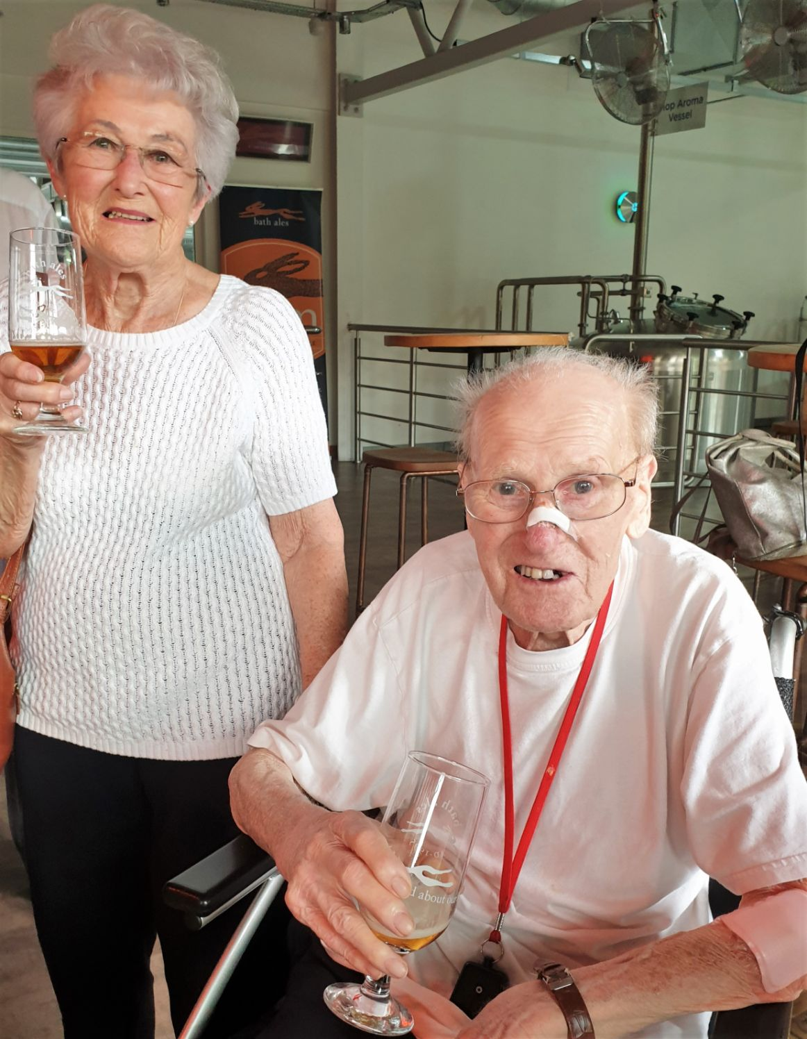 Residents at Ivybank House Care Home enjoy a beer tasting tour at Bath Ales Brewery