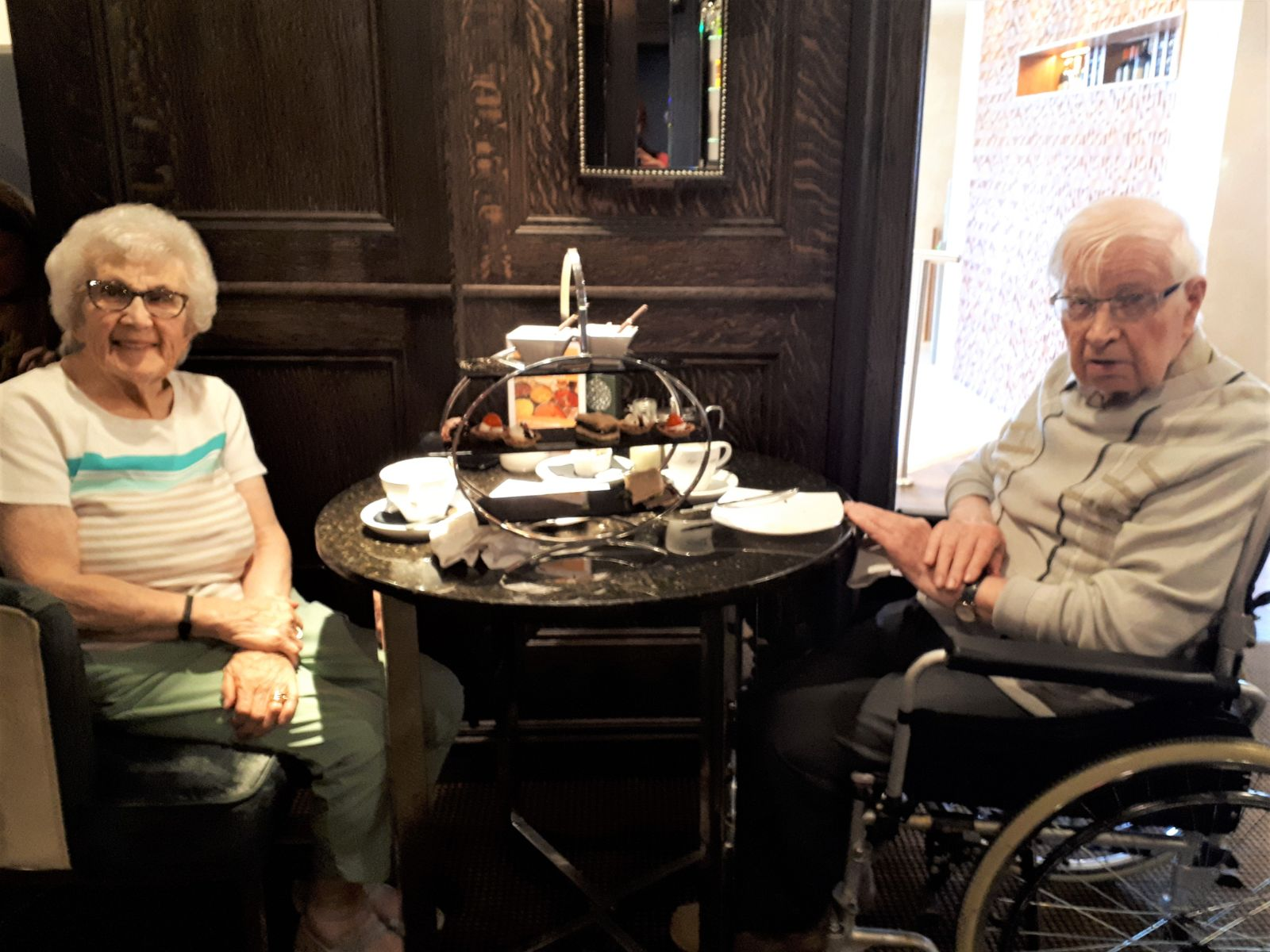 Resident at Hallhouse Care Home in Kilmarnock takes their wife on a date again