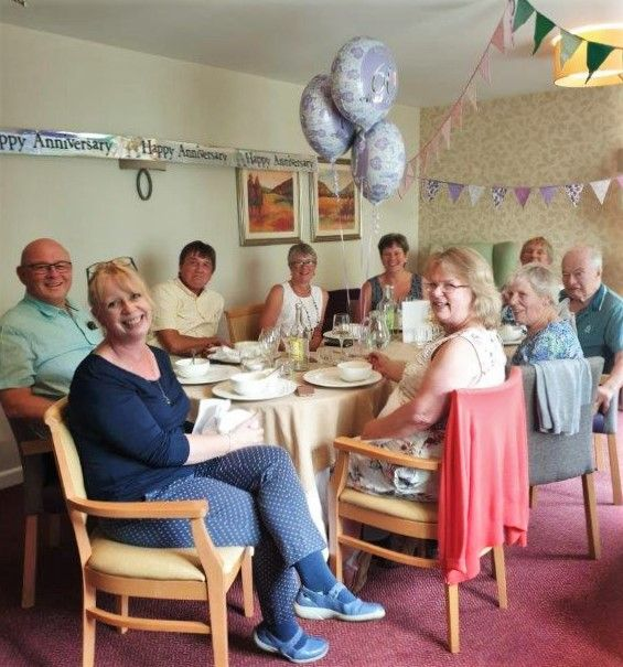 Residents celebrate diamond wedding anniversary at Hungerford Care Home in Berkshire