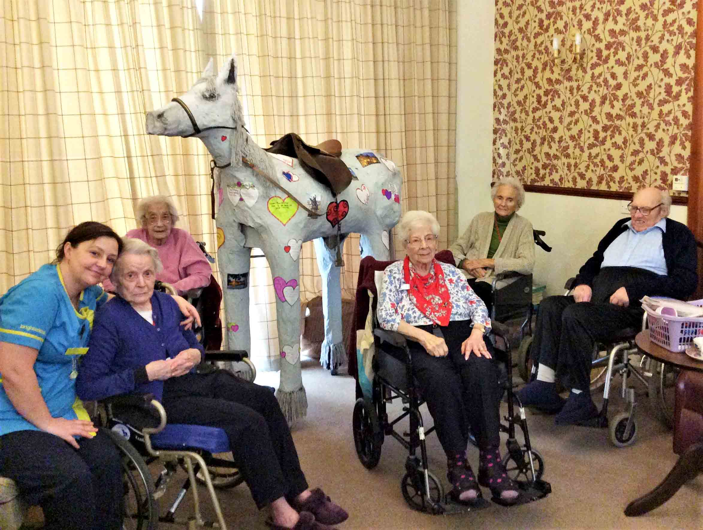 Glebefields Care Home in Banbury takes part in brighterkind's create challenge