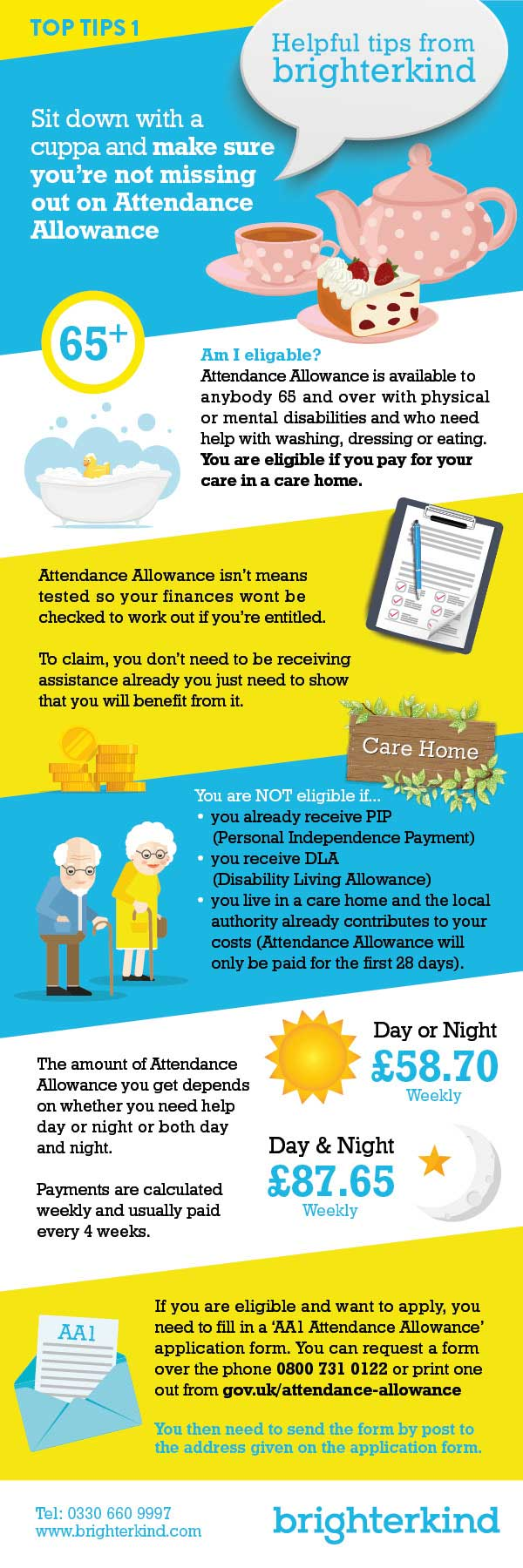 Make sure you don't miss out on Attendance Allowance