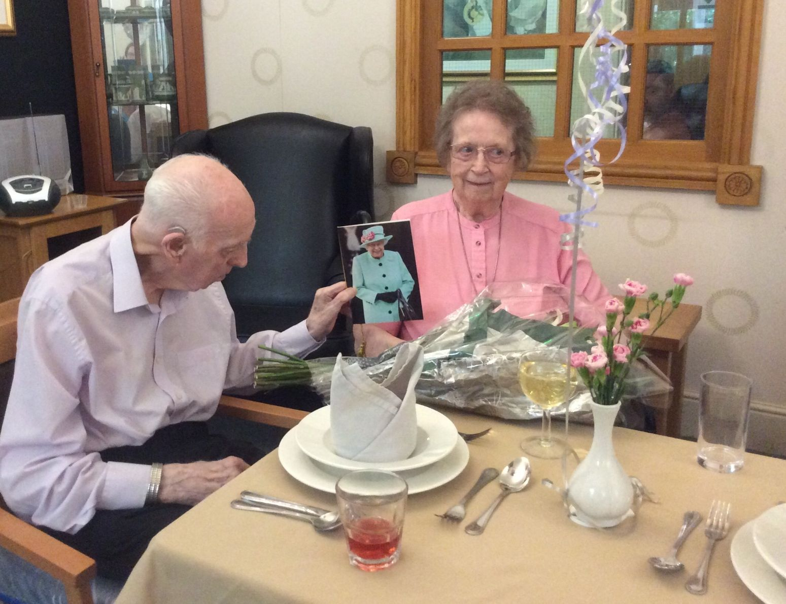 Residents at Henleigh Hall Care Home in Beauchief celebrate their diamond wedding anniversary