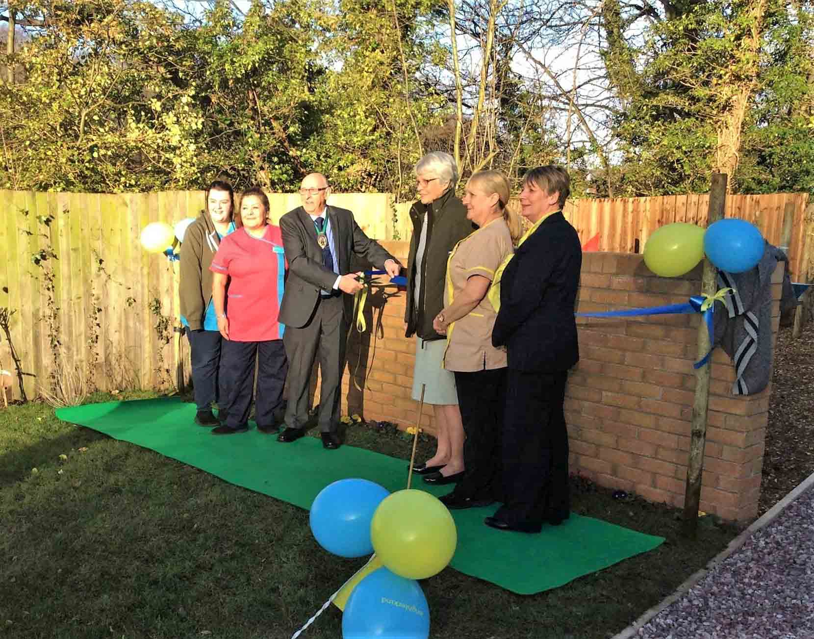 Henleigh Hall Care Home opens a memory garden in tribute to a much-loved resident