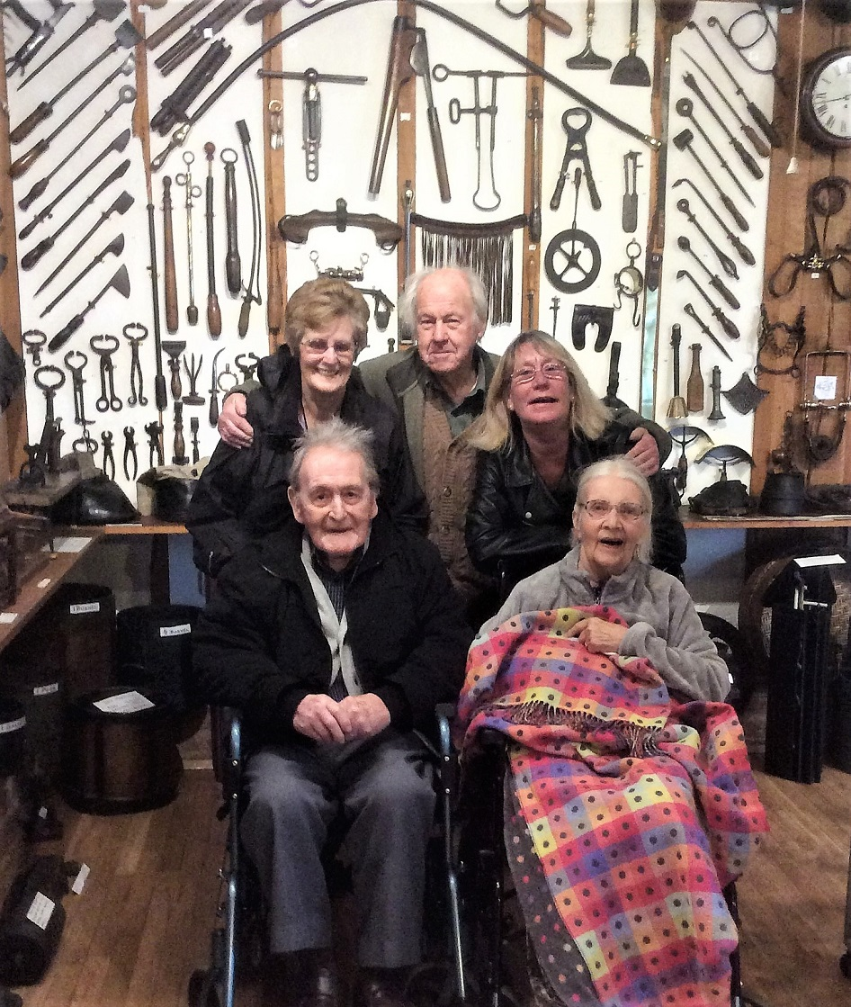 Albany Care Home, Oxfordshire-Volunteer Jean, Museum Curator Gordon, team member Christine and residents Cliff and Dorothy in The Museum of Rural Life