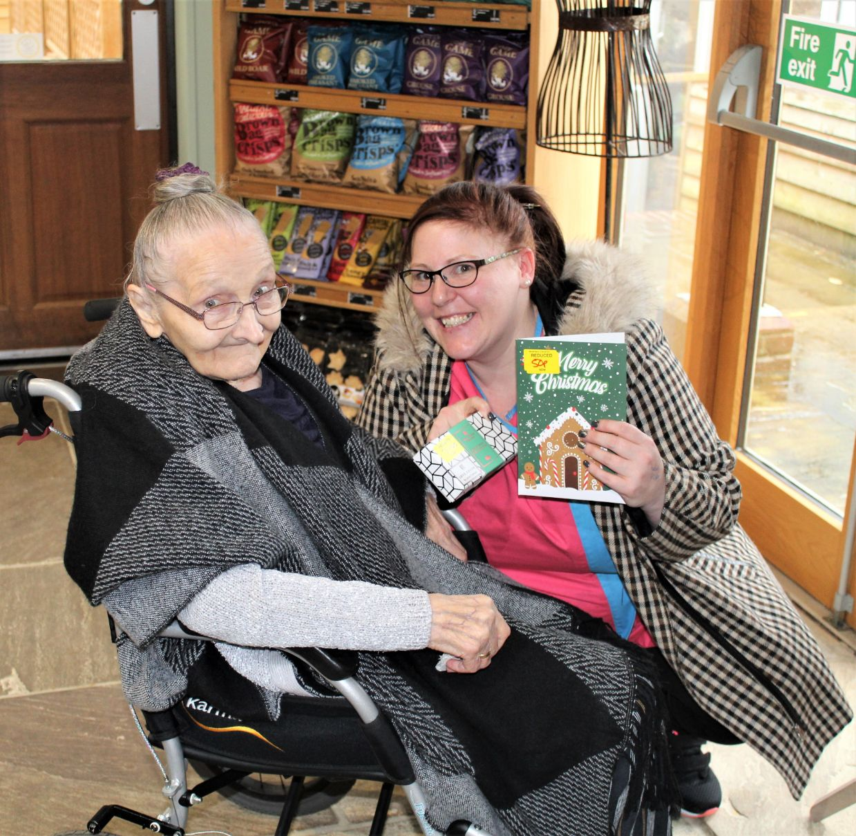 Ashbourne Court Care Home, Hampshire-Irmgard and Nemily at the Longstock Farm Shop