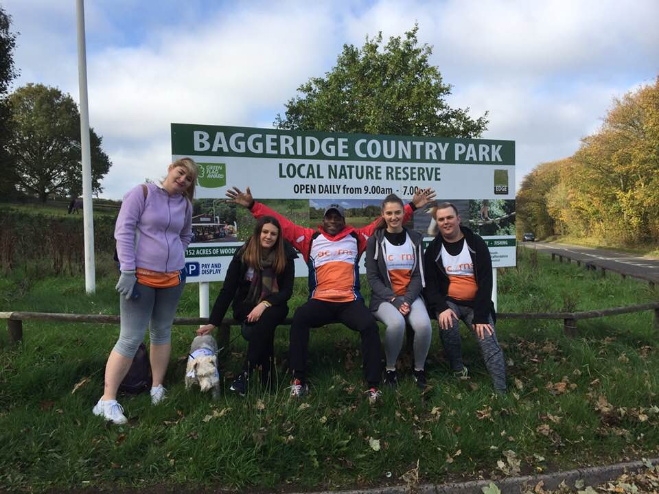 The team at the halfway point - only another 8 miles to go!