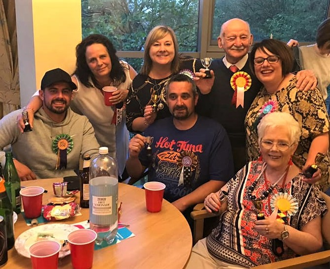 Broadway Halls Care Home, Dudley-The winning team; Lewis, Karen, Andrea, Gary, Percy, Jayne and resident Jean