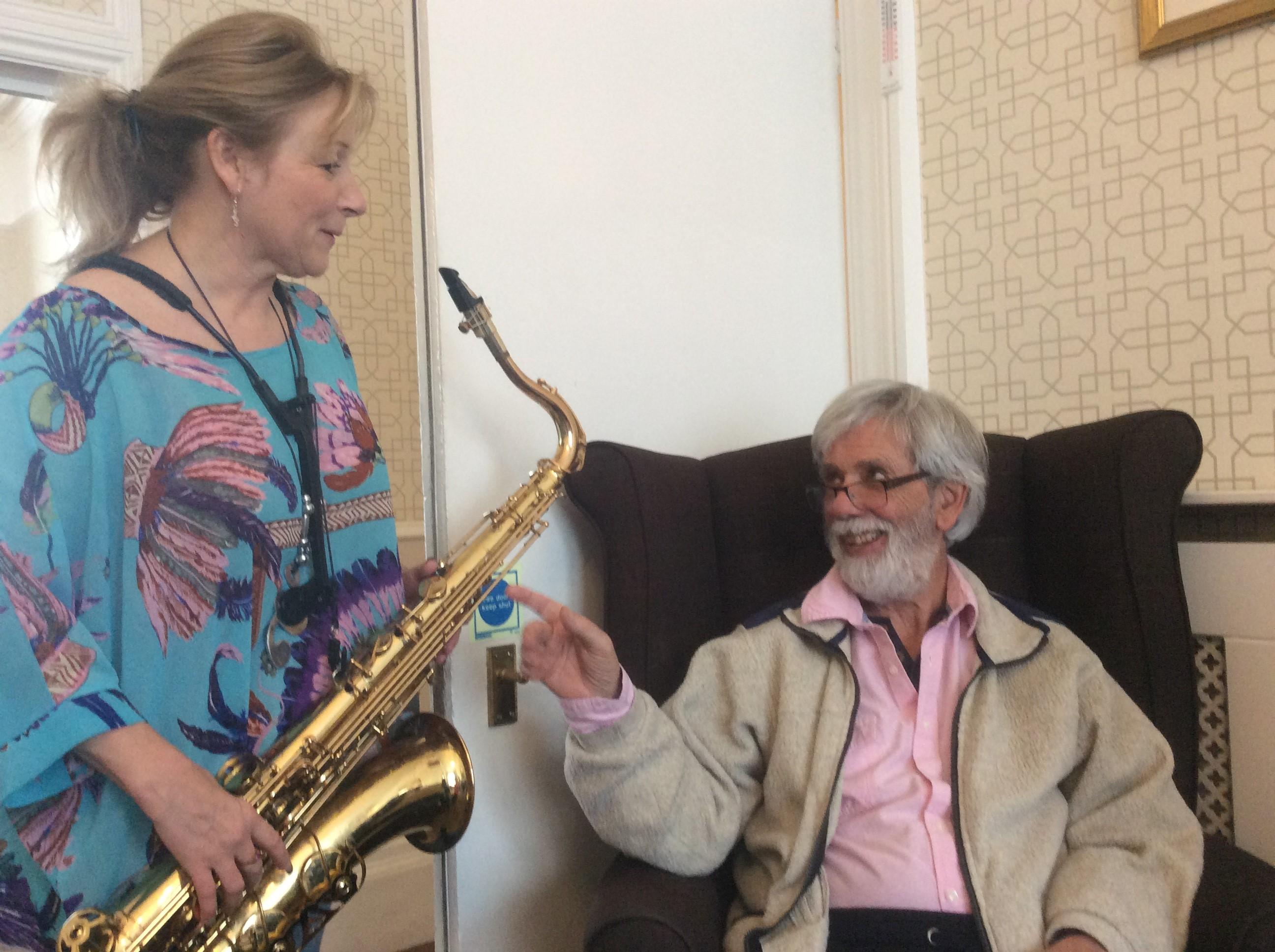 Jon with saxophonist Louise Harris