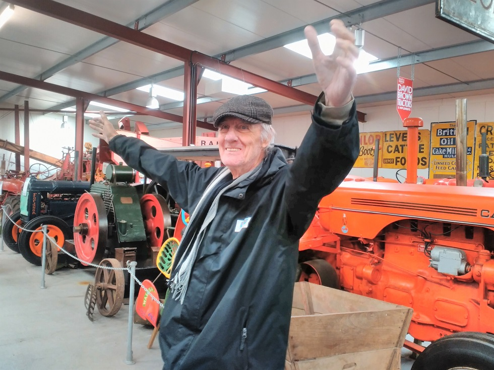 Carlton Mansions Care Home, Bristol-Terry having a great time exploring in the agriculture warehouse