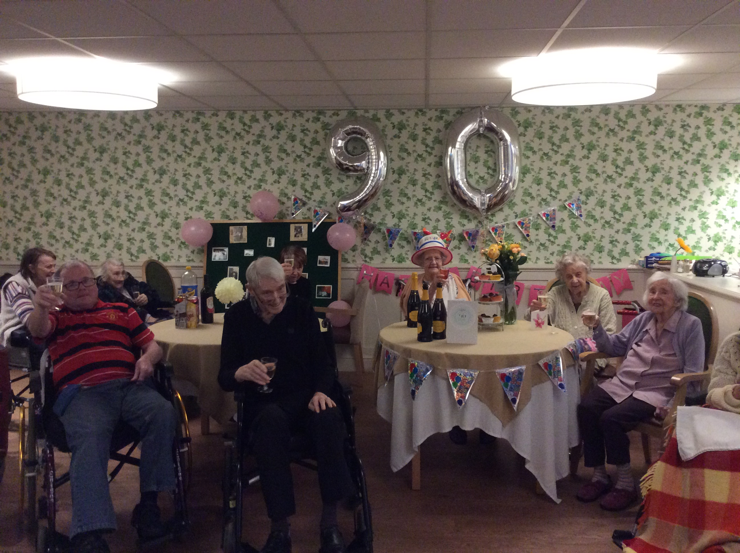 Happy 90th Birthday To Noreen At Charlotte House Care Home