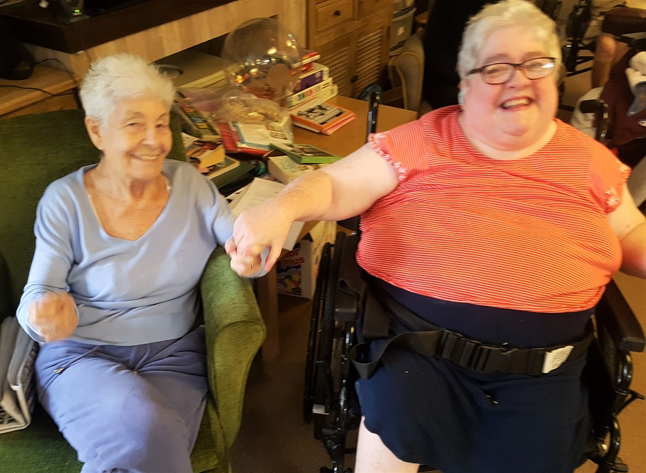 Charlotte House Care Home, The Wirral-Vicky and Dorothy