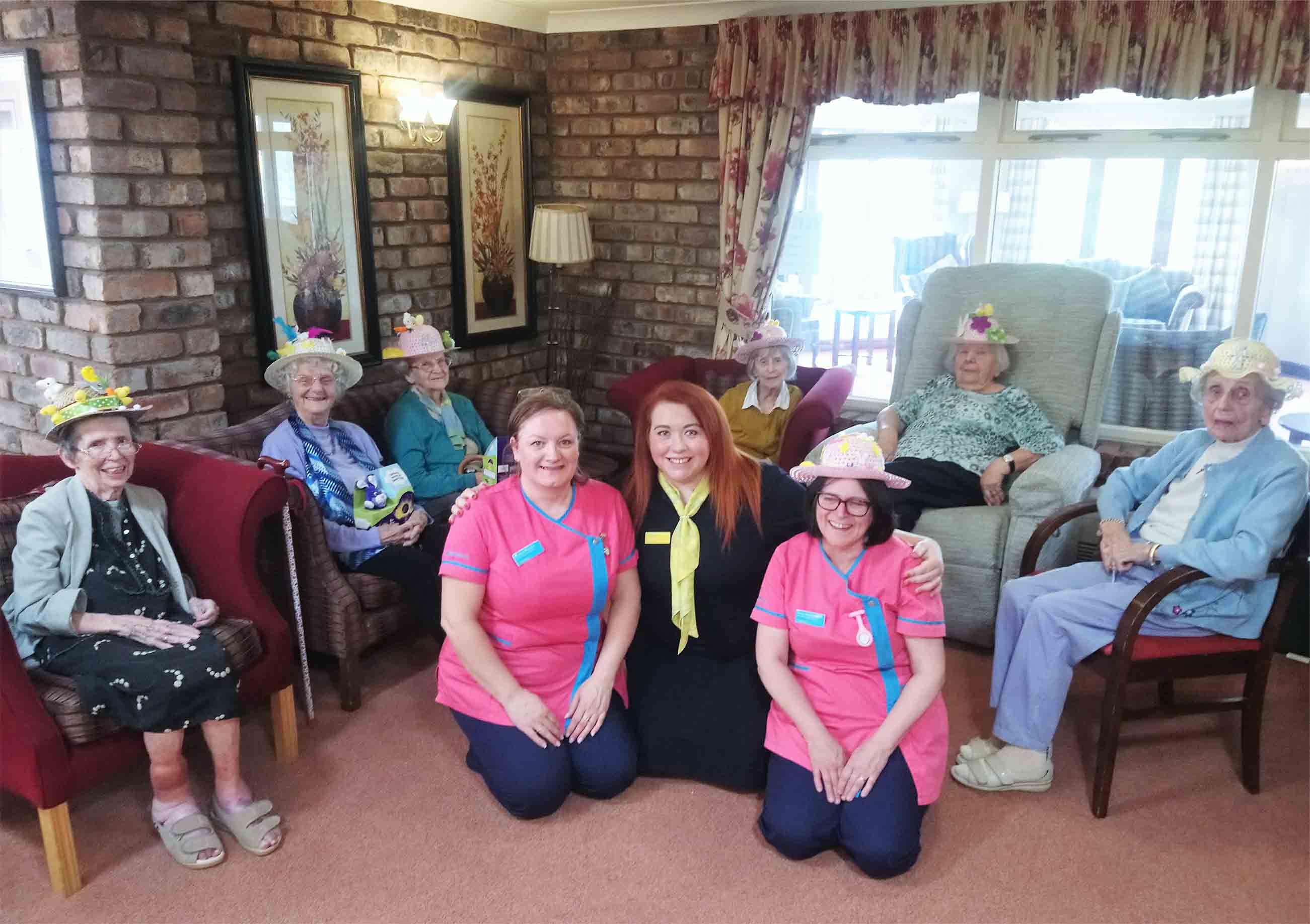 Residents celebrate Easter at Crabwall Hall Care Home in Chester