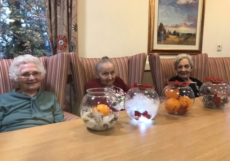 Ashbourne Court Care Home in Hampshire start their Christmas decorations