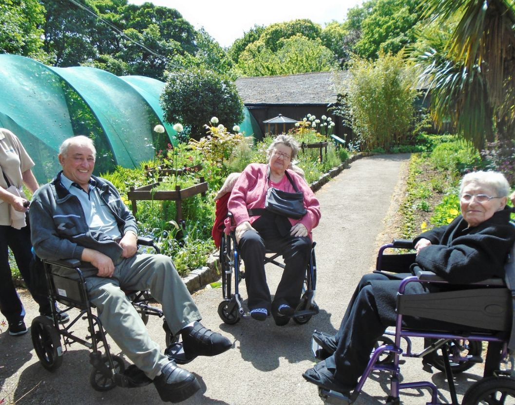 The Grange Care Home in Colne visit the Butterfly House at William Park in Lancaster