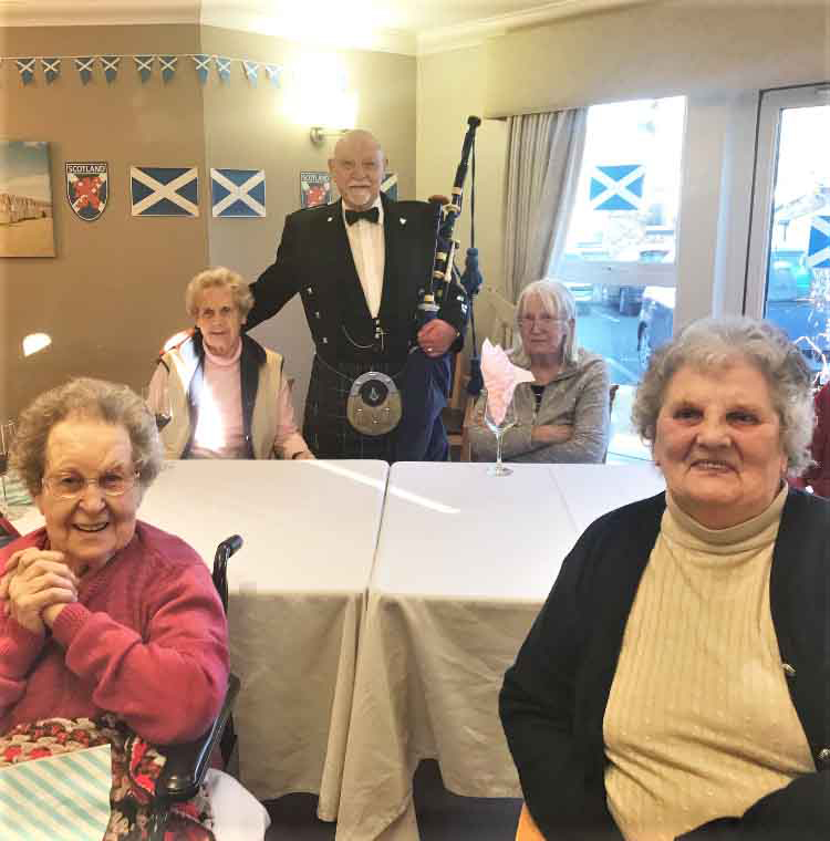 A wish for 'Scotland Day' at Scarborough Hall Care Home