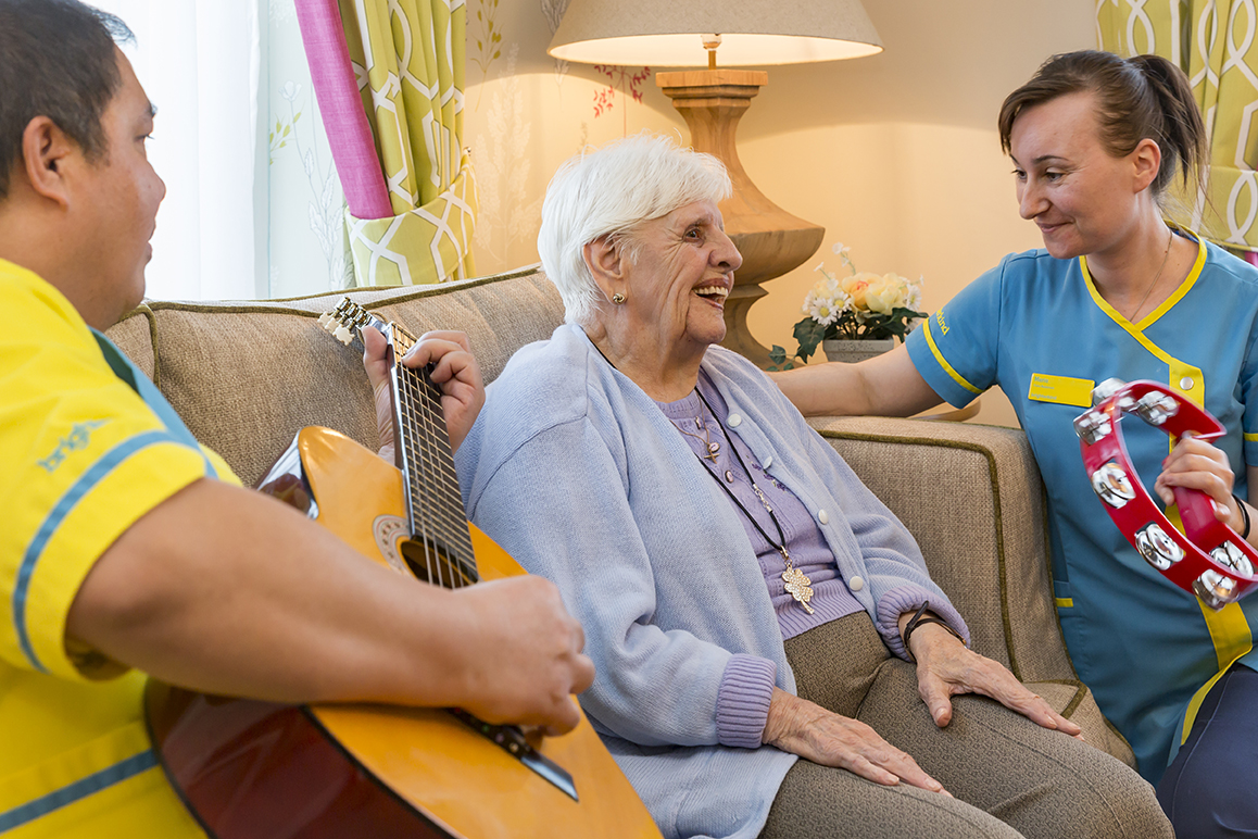 The benefits of music in care homes