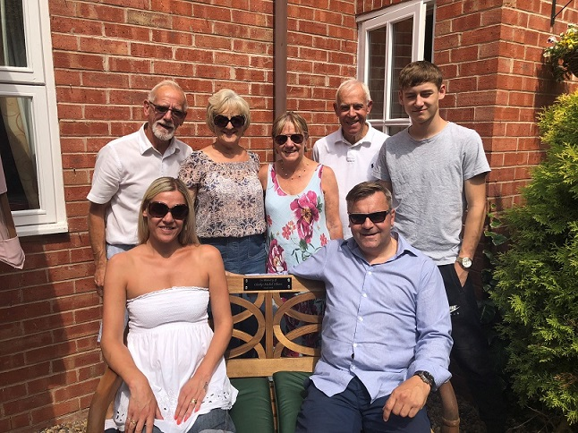 The Sibson family sat on Gladys' memorial bench