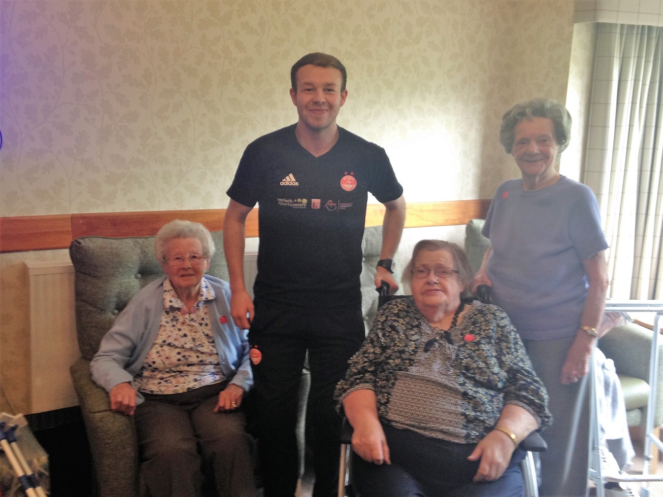 Residents Meg, Lesley and Marion with AFCCT member Stephen Boodie
