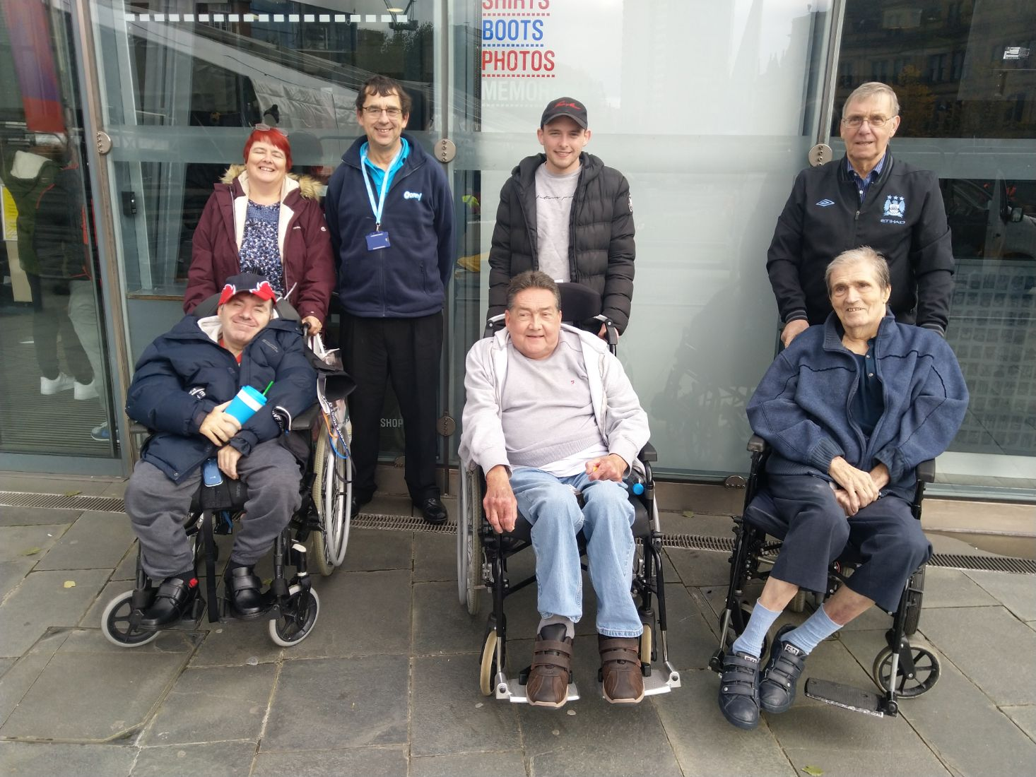 The Branksome Care Home in Buxton took a trip to the National Football Museum