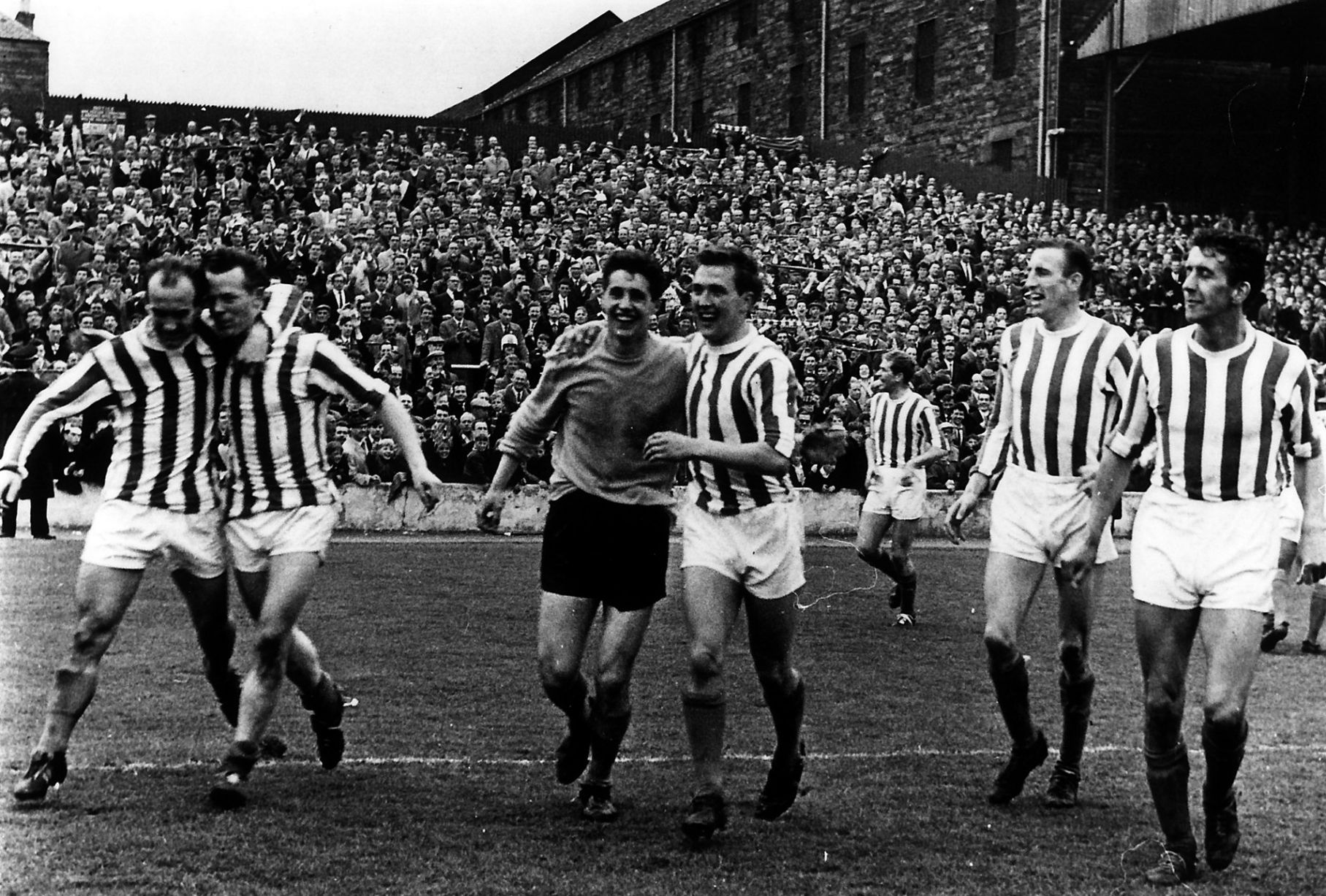 Kilmarnock FC 1965 League Championship winners celebrate