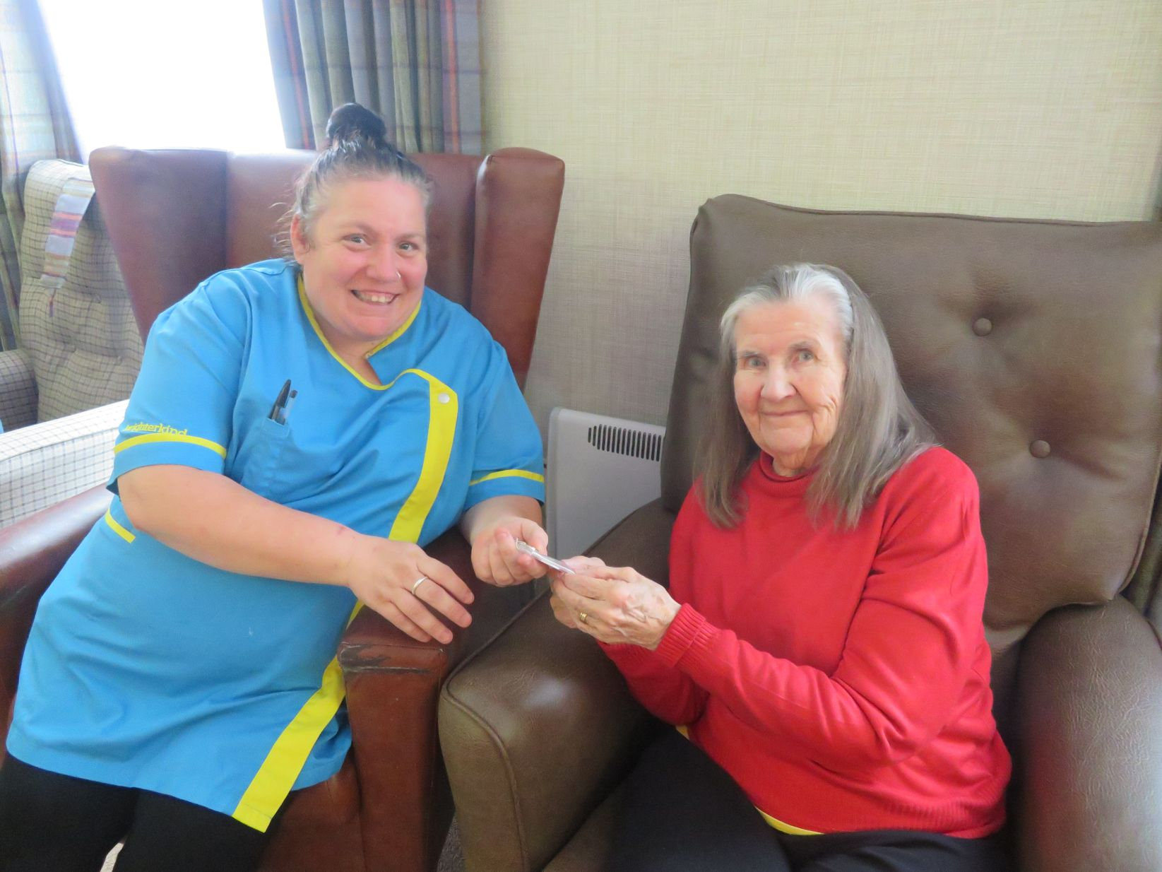 Residents and Team at Westbury Court Care Home in Wilshire celebrate Carers Week 2019