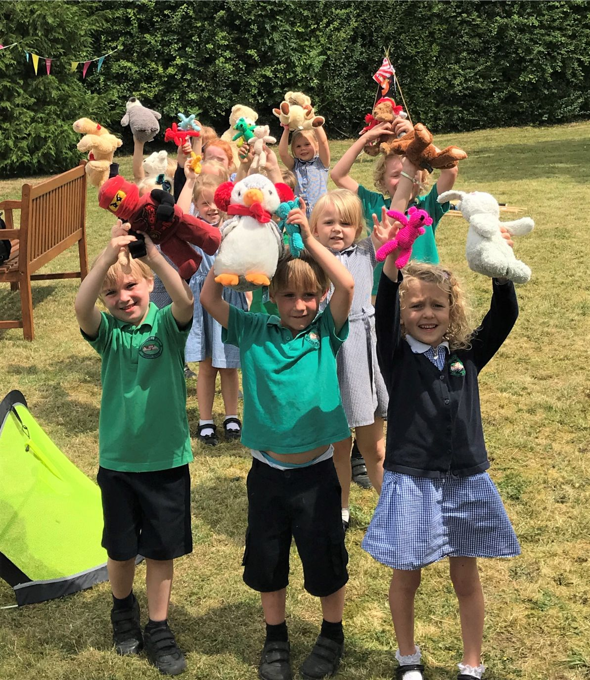 Hempton Field Care Home, Oxfordshire-The children from Lewknor Primary School with their teddies
