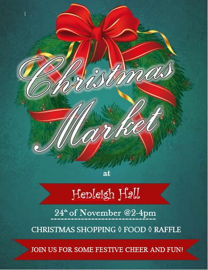 Everyone is welcome to join us at our Christmas Market