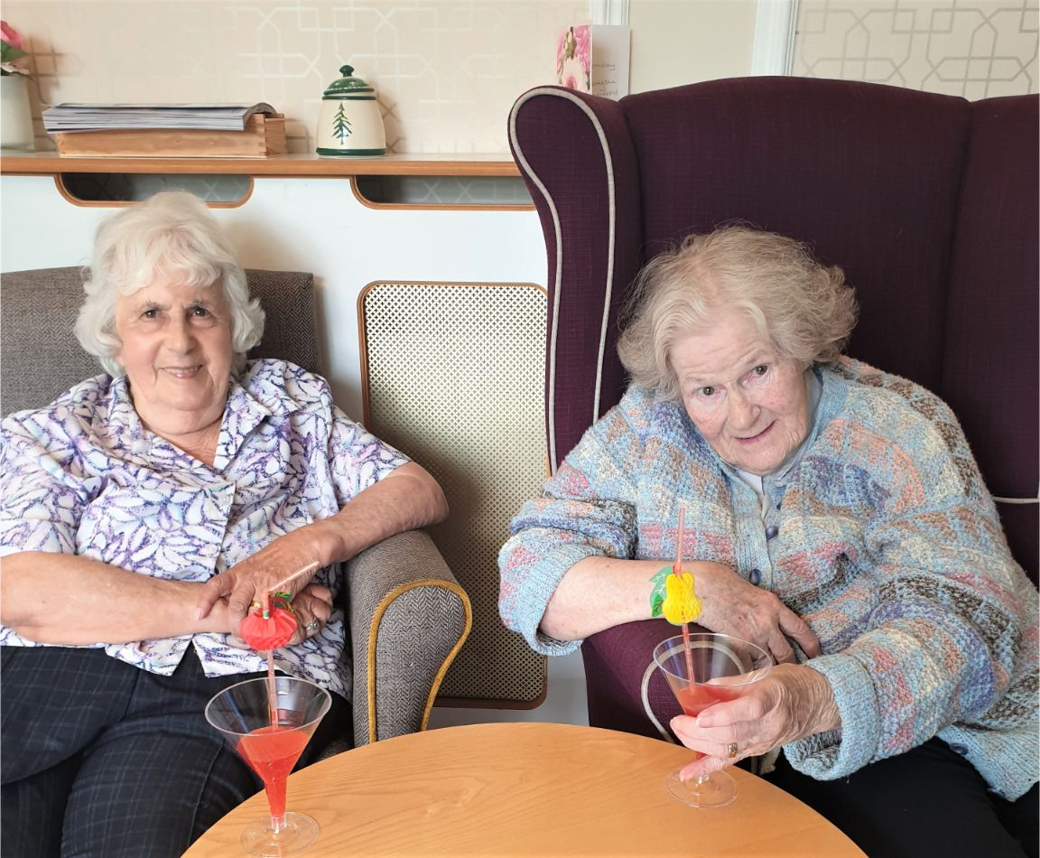 Hungerford Care Home, Berkshire-Cheers from Marie and Doris