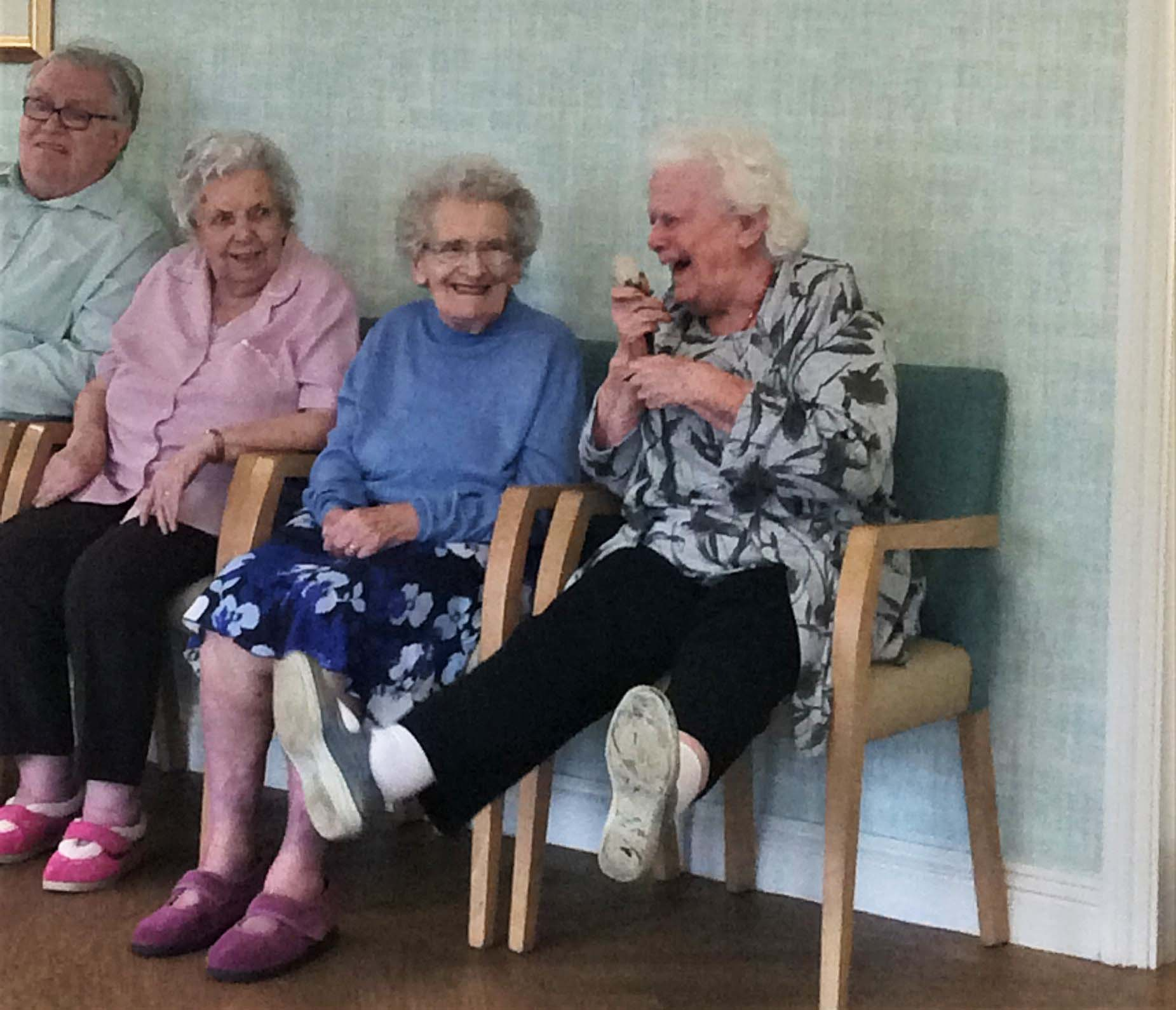 Bamfield Lodge Care Home has got the giggles!