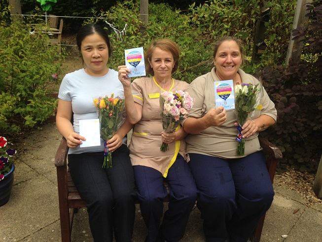 Winners of Team Member of the Month - Yang Li, Sharon Reed and Lisa Hodges