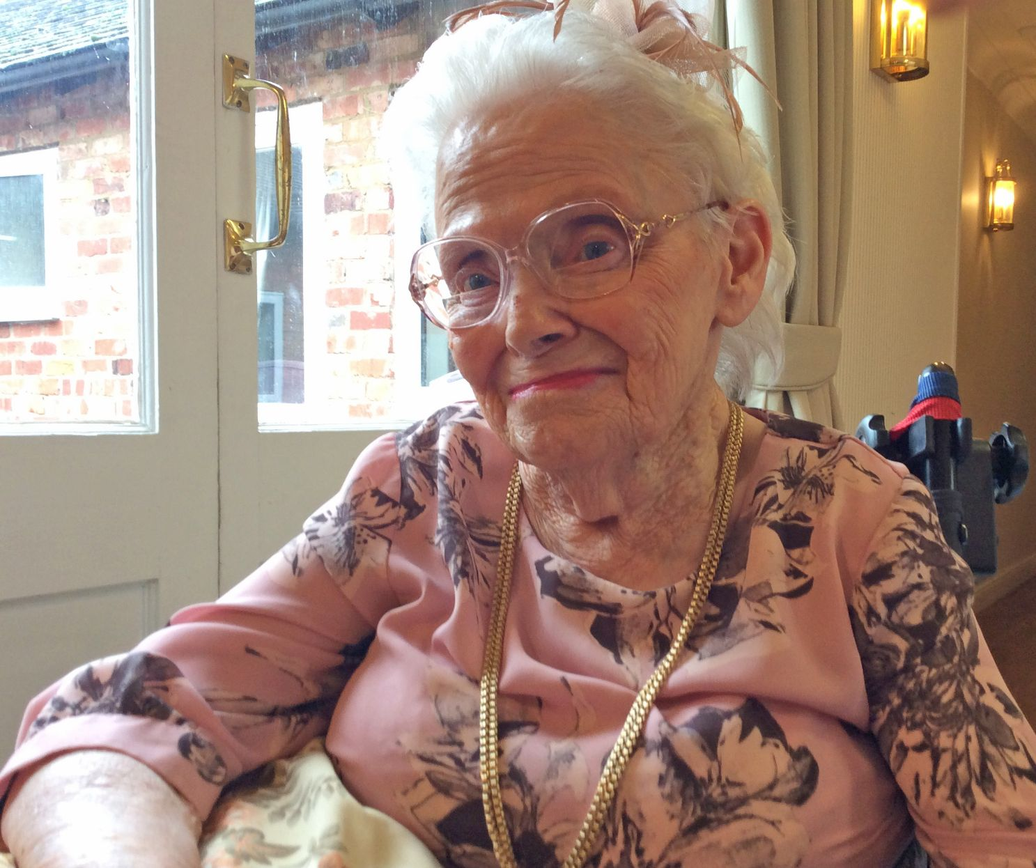 Tewkesbury Fields Care Home in Gloucestershire make Joyce's wish to be pampered come true