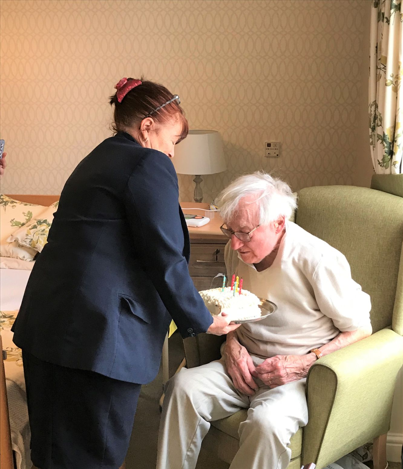 The Granby Care Home in Harrogate help Peter celebrate his birthday