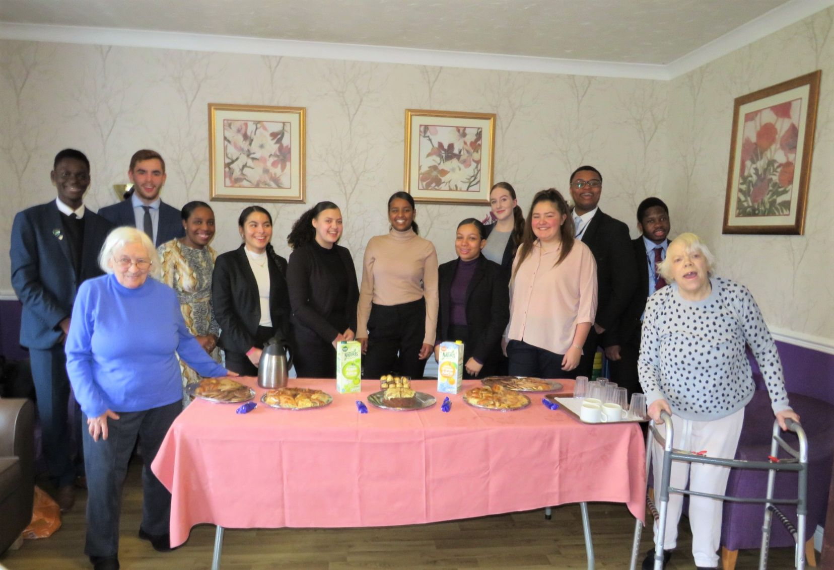 Uplands Care Home in Streatham host a coffee morning