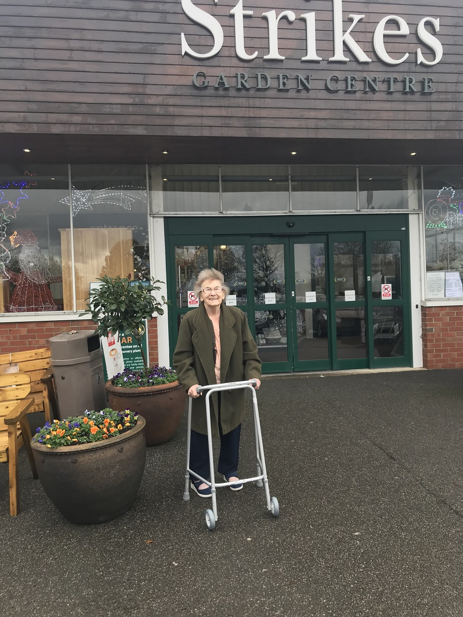 Gwen at Strikes Garden Centre