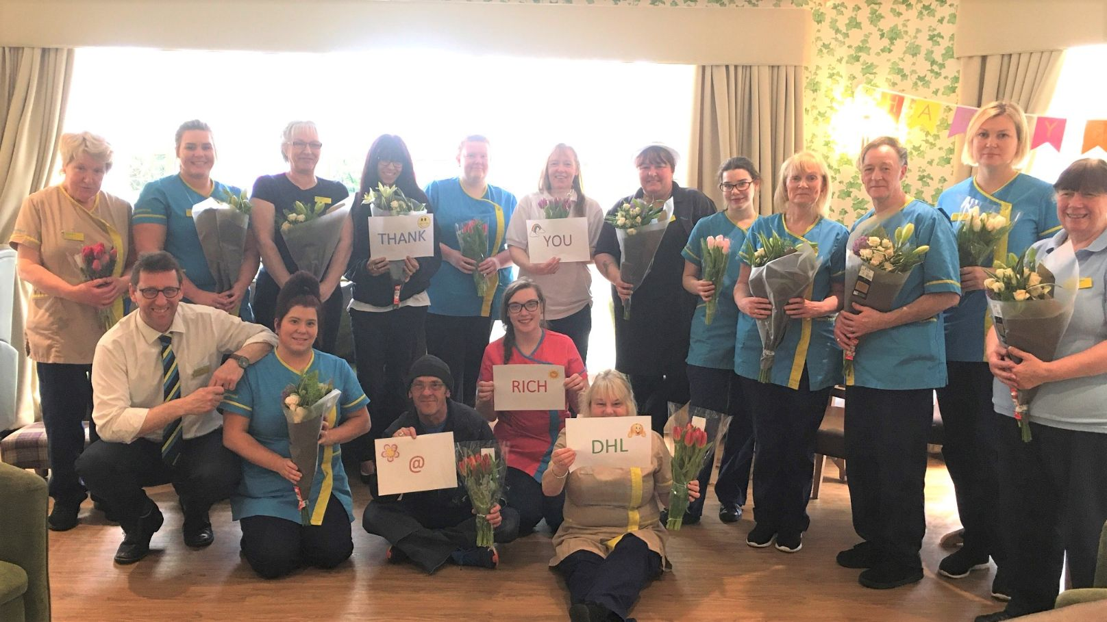 Angusfield House Care Home in Aberdeen say thank you to DHL