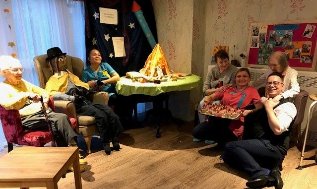 Mill House Care Home in Oxfordshire celebrate Guy Fawkes Night