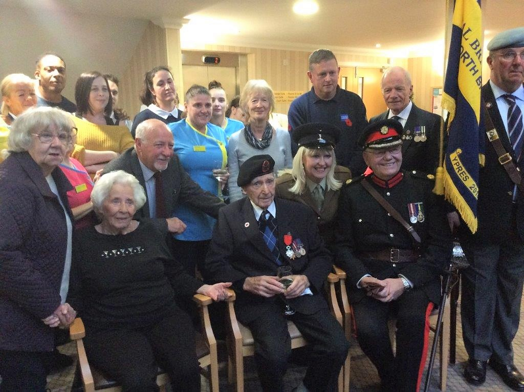 War Hero Eric receives Legion of honour at Cookridge Court Care Home