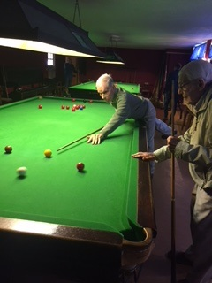 Residents Peter Stock and Brian Jeal playing Snooker