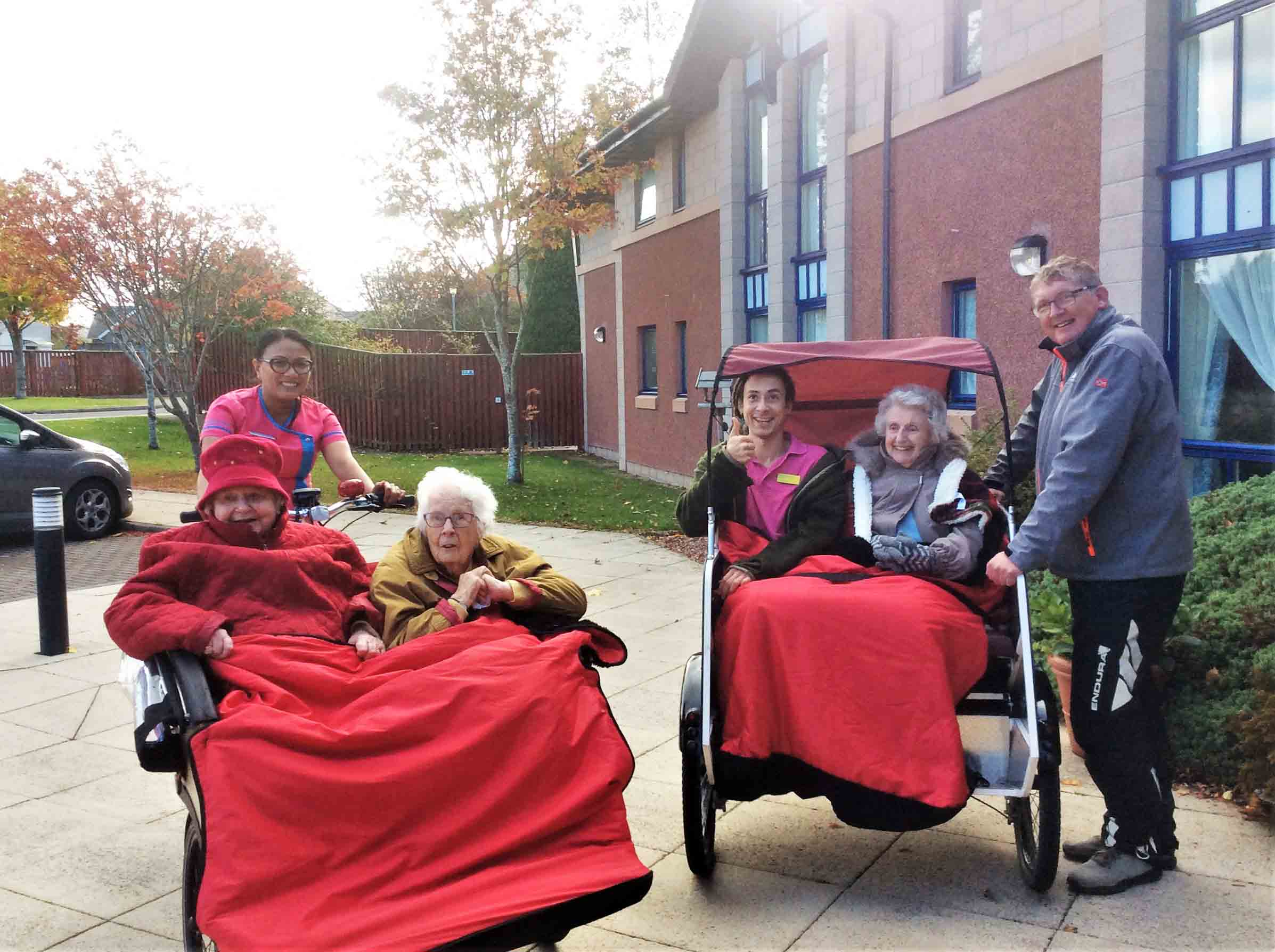 Kingsmills Care Home's outdoor adventures with Cycling Without Age Inverness