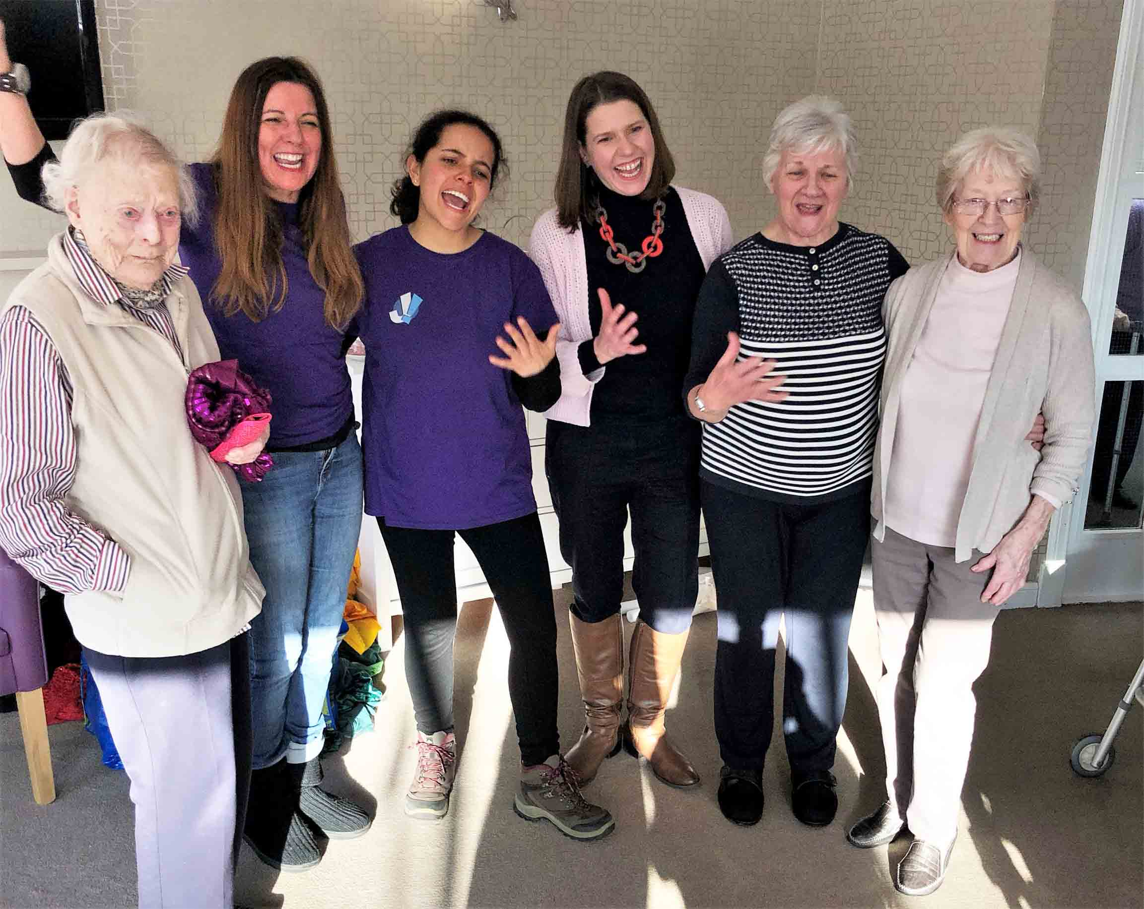 Laughter Yoga is the best medicine at Buchanan House Care Home