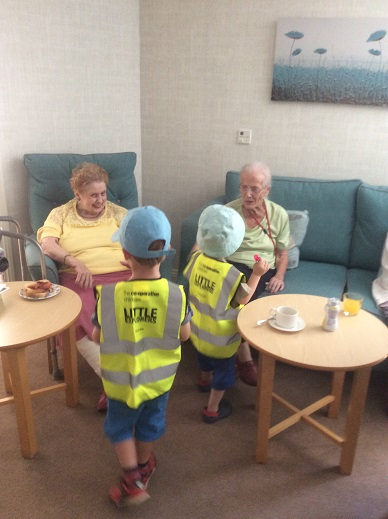 Children from Co-op nursery visited Bamfield Lodge