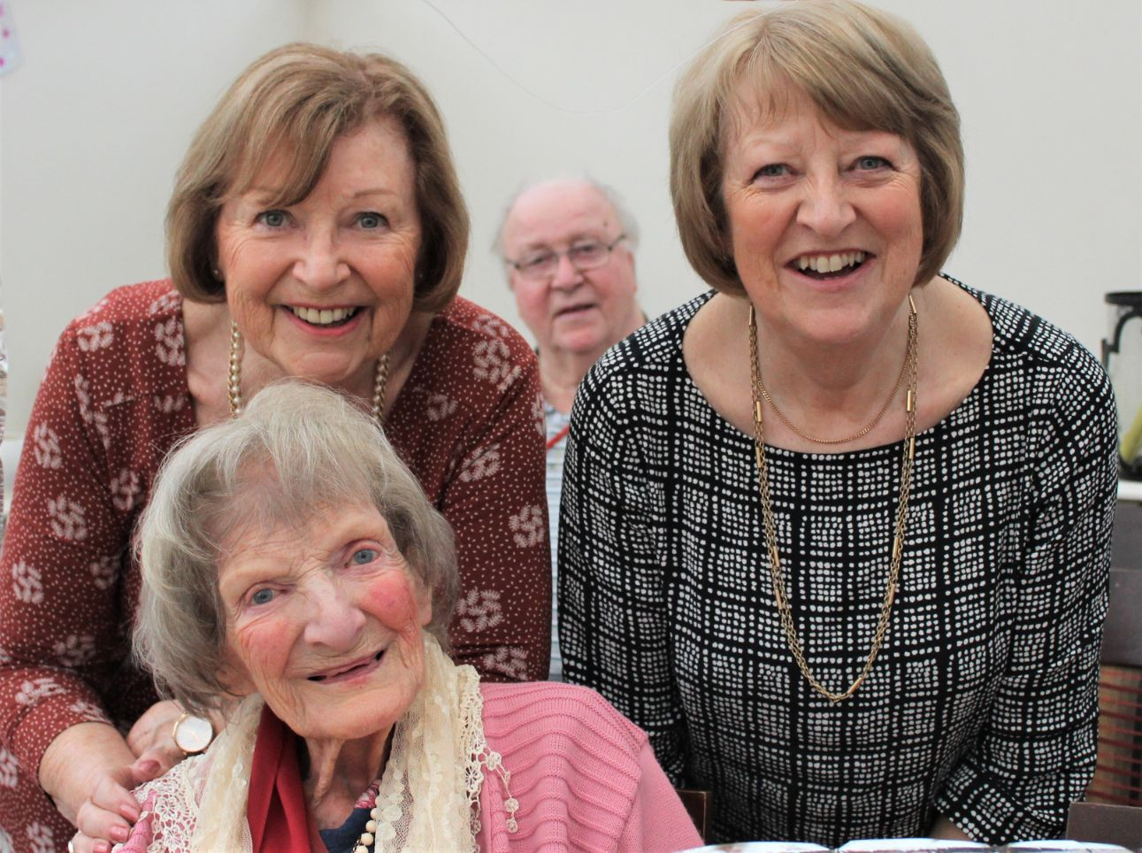 Ivybank House Care Home, Bath-Sybil pictured her daughters Rachel and Jane