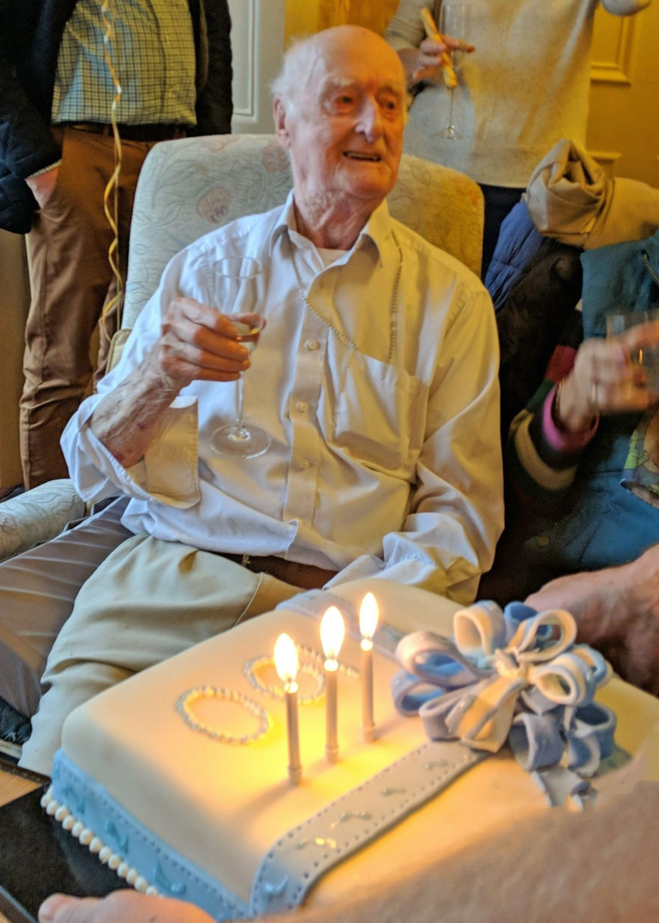 Elm Bank Care Home in Kettering celebrate John's 100th birthday