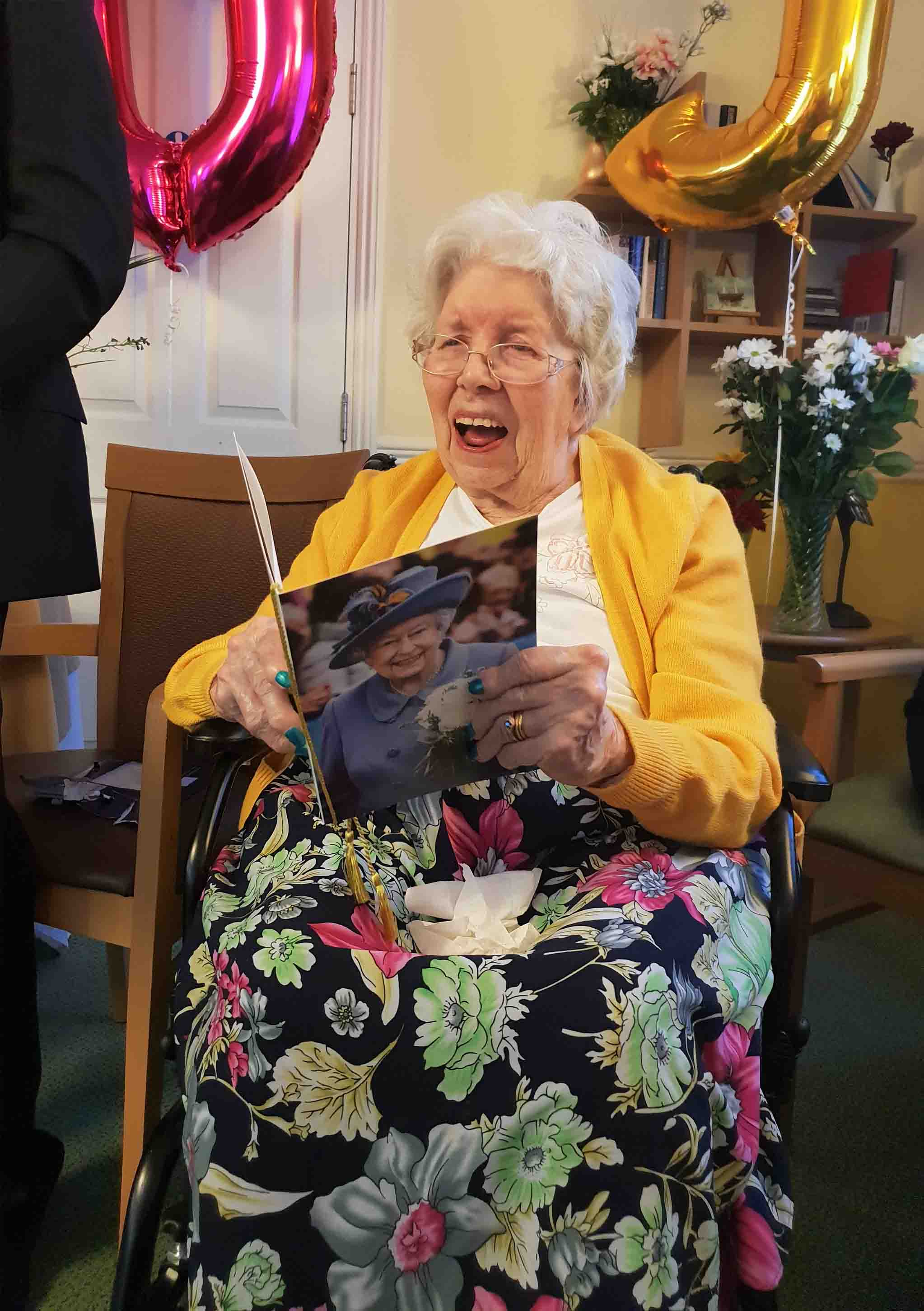 Joyce turns 100 at The Wimborne Care Home!