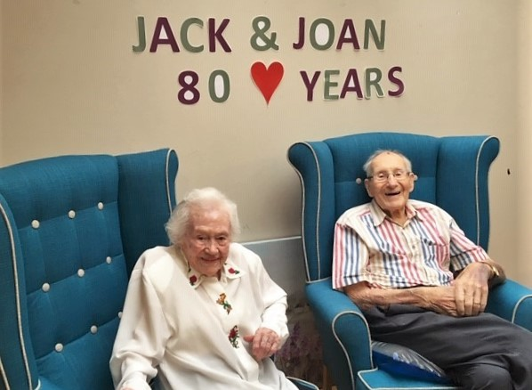 Residents at Springfield House Care Home in Codsall celebrate 80th wedding anniversary