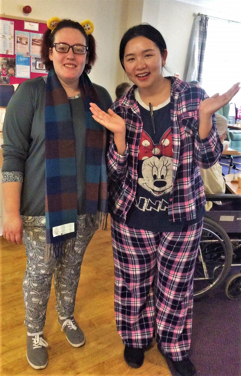 Flowerdown Care Home's pyjama party for Children in Need