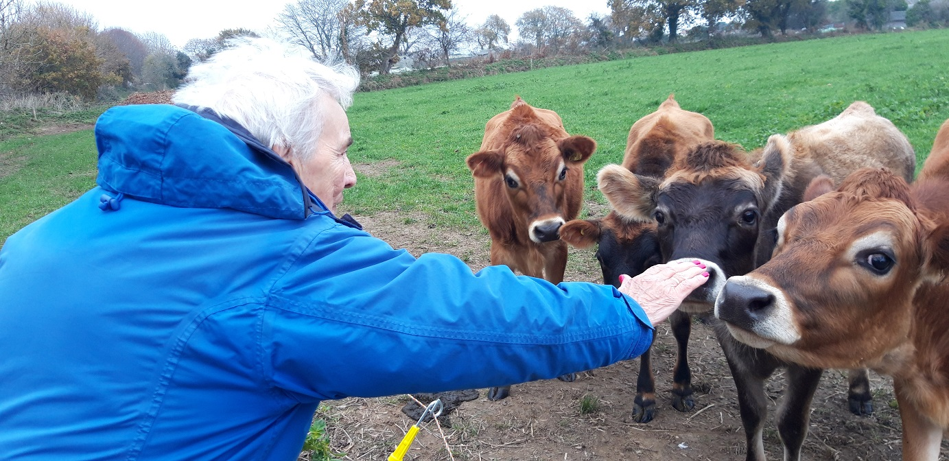Resident Doreen Berthou making some new friends!